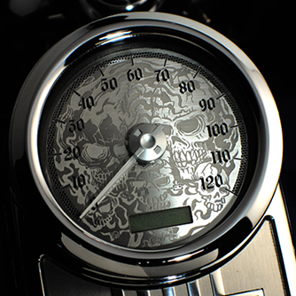 Harley Gauges | Custom Motorcycle Gauges | Custom Motorcycle Face Kits | Riverside CA
