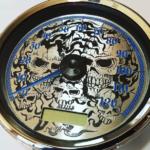 Custom Harley Gauge Skulls metal
